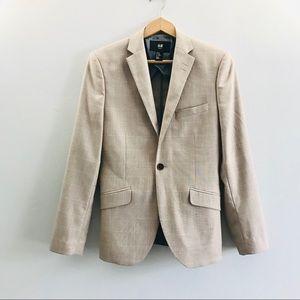 H&M Men's Slim Fit Blazer Taupe Tan Small 34R